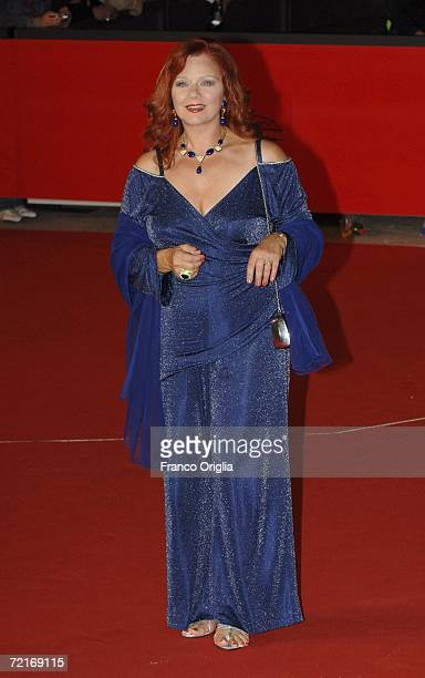Actress Agostina Belli attends the premiere of the movie Uno Su Due on the second day of Rome Film Festival on October 14 2006 in Rome Italy