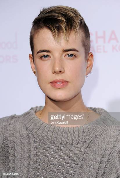 Actress Agyness Deyn arrives at Teen Vogue's 8th Annual Young Hollywood Party at Paramount Studios on October 1, 2010 in Hollywood, California.