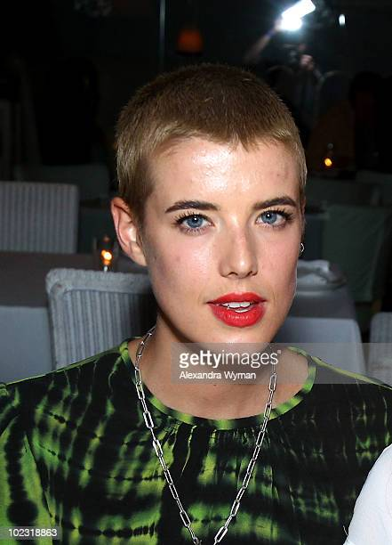 Actress Agyness Deyn attends private dinner before Nylon Magazine's Music Issue party hosted by MIA held at Asia de Cuba in the Mondrian hotel Los...