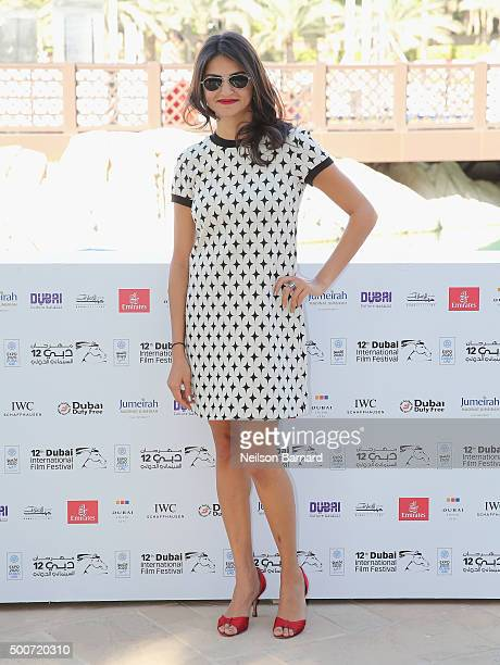 Actress Ahd Kamel attends the 'Zinzana ' photocall during day two of the 12th annual Dubai International Film Festival held at the Madinat Jumeriah...