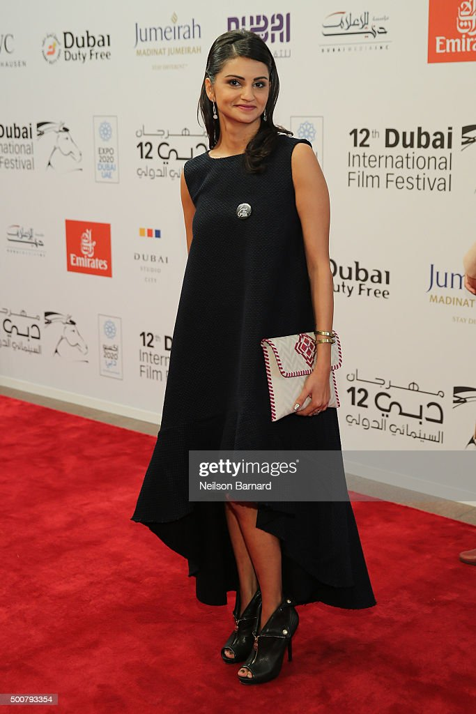 Actress Ahd Kamel attends the 'Zinzana (Rattle The Cage)' premiere during day two of the 12th annual Dubai International Film Festival held at the Madinat Jumeriah Complex on December 10, 2015 in Dubai, United Arab Emirates.
