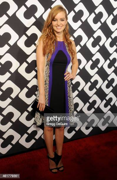 Actress Ahna O'Reilly arrives at Diane Von Furstenberg's 'Journey Of A Dress' premiere opening party at Wilshire May Company Building on January 10...