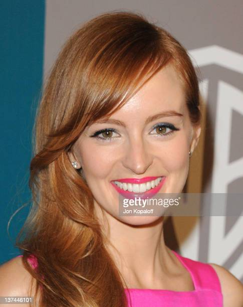 Actress Ahna O'Reilly arrives at the 13th Annual Warner Bros And InStyle Golden Globe After Party held at The Beverly Hilton hotel on January 15 2012...