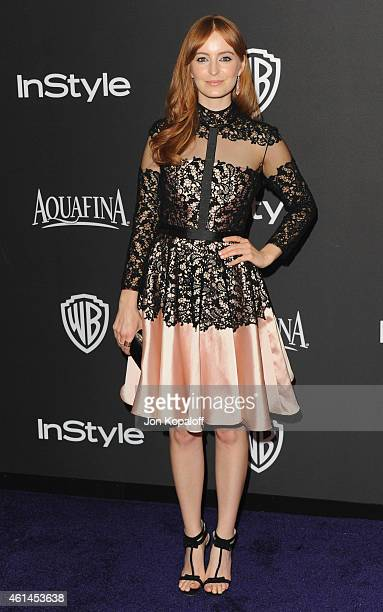 Actress Ahna O'Reilly arrives at the 16th Annual Warner Bros And InStyle PostGolden Globe Party at The Beverly Hilton Hotel on January 11 2015 in...