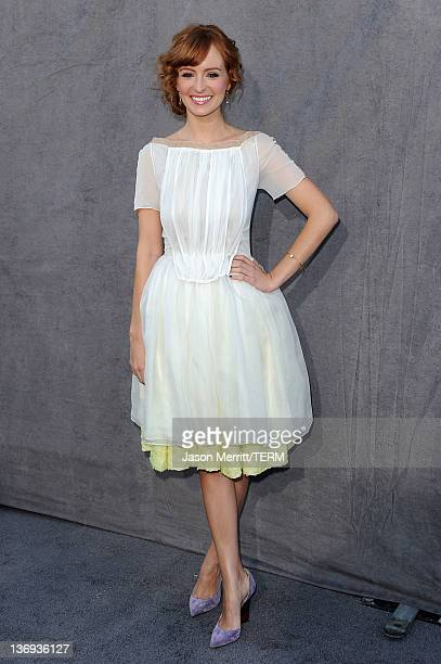 Actress Ahna O'Reilly arrives at the 17th Annual Critics' Choice Movie Awards held at The Hollywood Palladium on January 12 2012 in Los Angeles...