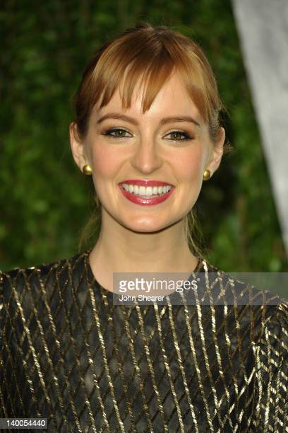 Actress Ahna O'Reilly arrives at the 2012 Vanity Fair Oscar Party hosted by Graydon Carter at Sunset Tower on February 26 2012 in West Hollywood...