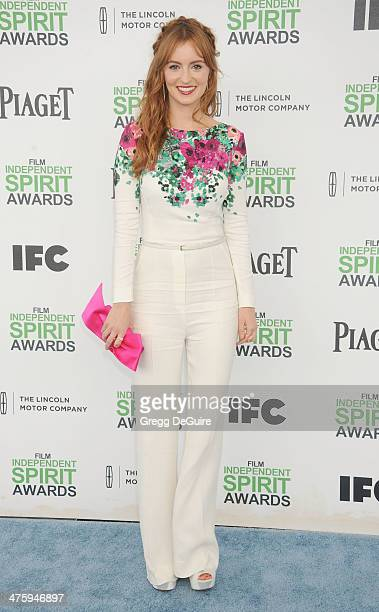 Actress Ahna O'Reilly arrives at the 2014 Film Independent Spirit Awards on March 1, 2014 in Santa Monica, California.