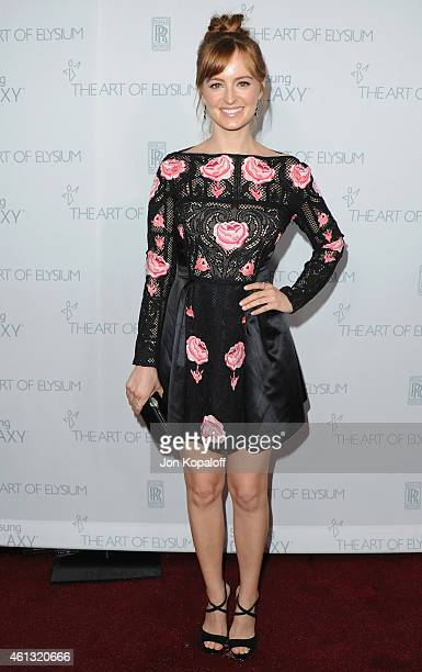 Actress Ahna O'Reilly arrives at The Art Of Elysium 8th Annual Heaven Gala at Hangar 8 on January 10 2015 in Santa Monica California
