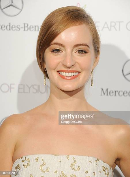 Actress Ahna O'Reilly arrives at The Art of Elysium's 7th Annual HEAVEN Gala at the Guerin Pavilion at the Skirball Cultural Center on January 11...