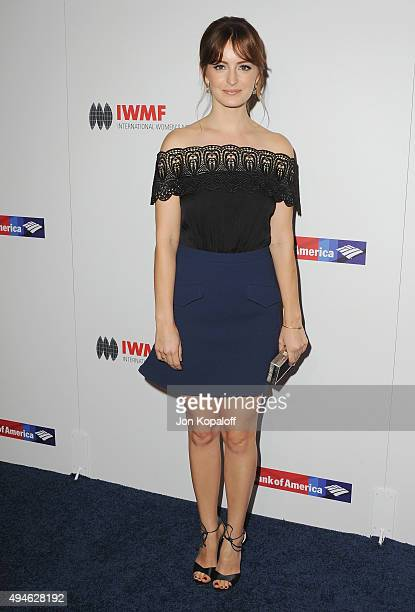 Actress Ahna O'Reilly arrives at the International Women's Media Foundation Courage Awards at the Beverly Wilshire Four Seasons Hotel on October 27,...