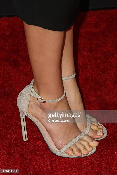 Actress Ahna O'Reilly arrives at the Jobs premiere at Regal Cinemas LA Live on August 13 2013 in Los Angeles California