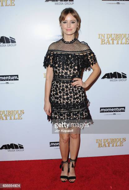 Actress Ahna O'Reilly arrives at the Los Angeles Premiere 'In Dubious Battle' at ArcLight Hollywood on February 15 2017 in Hollywood California
