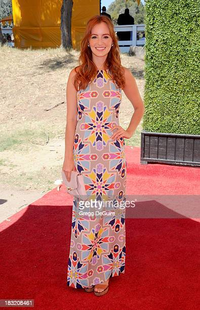 Actress Ahna O'Reilly arrives at the Veuve Clicquot Polo Classic at Will Rogers State Historic Park on October 5 2013 in Pacific Palisades California
