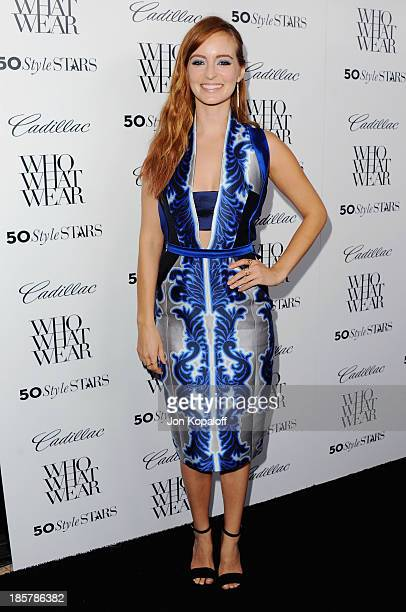 Actress Ahna O'Reilly arrives at Who What Wear And Cadillac's 50 Most Fashionable Women Of 2013 at The London Hotel on October 24 2013 in West...