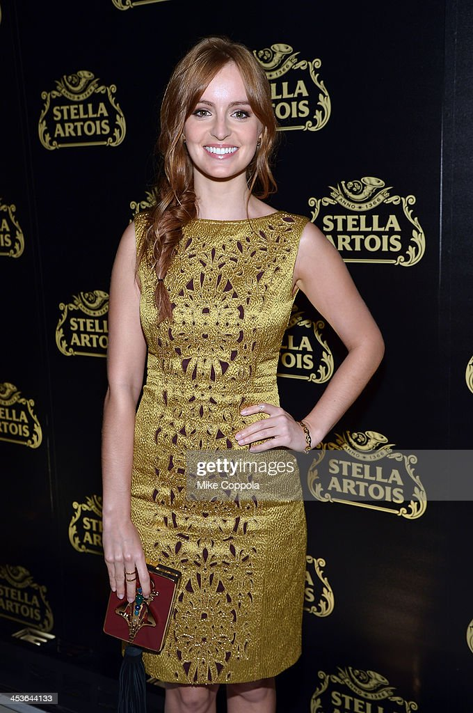 Actress Ahna O'Reilly at launch event for Stella Artois Crystal Chalice in New York Citys Meatpacking District on December 4, 2013.