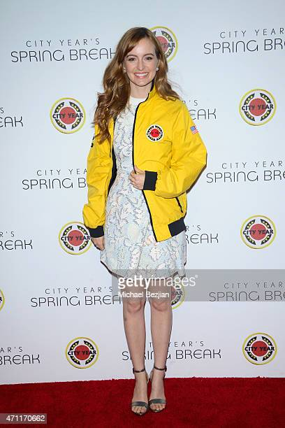 Actress Ahna O'Reilly attends City Year Los Angeles Spring Break at Sony Studios on April 25 2015 in Los Angeles California