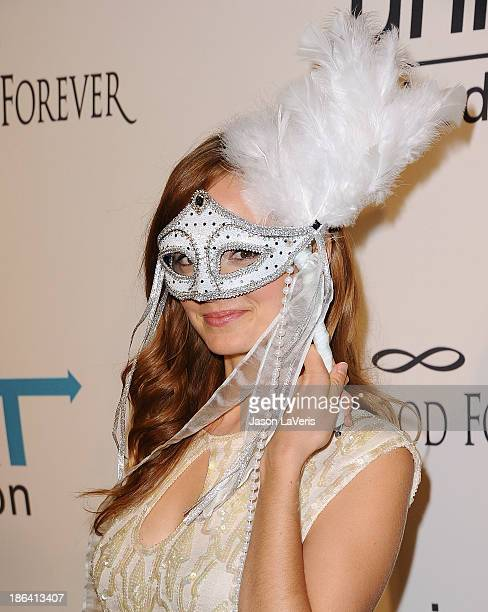 Actress Ahna O'Reilly attends the 1st annual UNICEF Masquerade Ball at The Masonic Lodge at Hollywood Forever on October 30 2013 in Los Angeles...