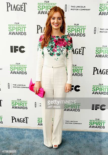 Actress Ahna O'Reilly attends the 2014 Film Independent Spirit Awards at Santa Monica Beach on March 1 2014 in Santa Monica California