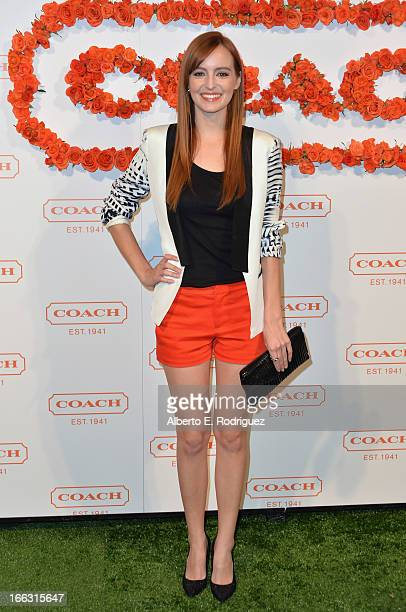 Actress Ahna O'Reilly attends the 3rd Annual Coach Evening to benefit Children's Defense Fund at Bad Robot on April 10 2013 in Santa Monica California