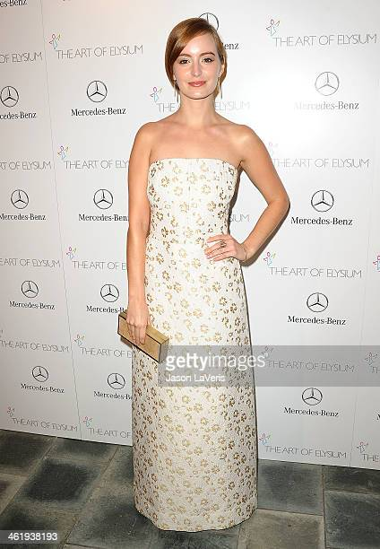 Actress Ahna O'Reilly attends the Art of Elysium's 7th annual Heavan gala at Skirball Cultural Center on January 11 2014 in Los Angeles California