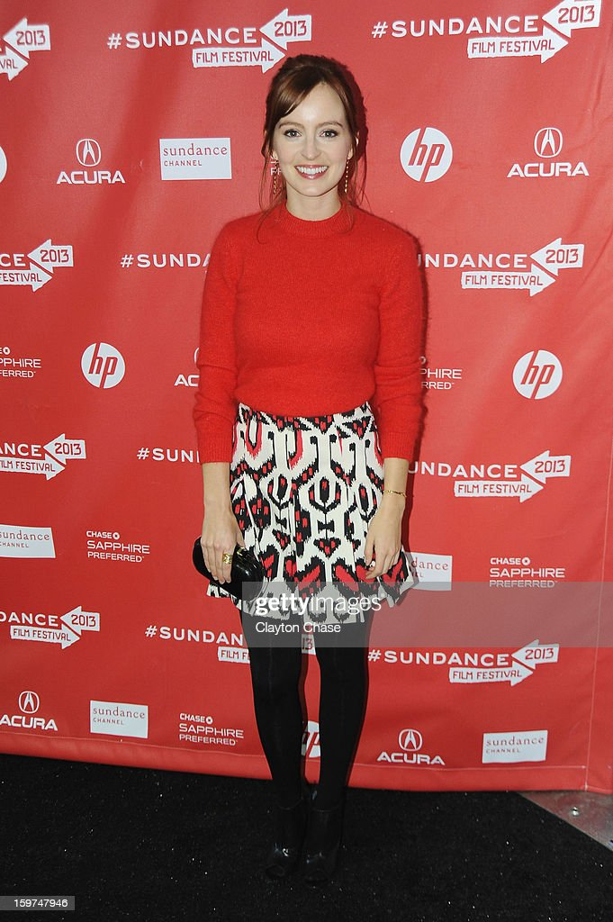 Actress Ahna O'Reilly attends the 'Fruitvale' premiere at The Marc Theatre during the 2013 Sundance Film Festival on January 19, 2013 in Park City, Utah.