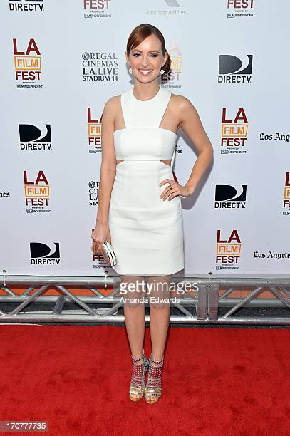 """Actress Ahna O'Reilly attends the """"Fruitvale Station"""" premiere during the 2013 Los Angeles Film Festival at Regal Cinemas L.A. Live on June 17, 2013..."""