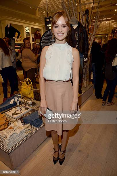 Actress Ahna O'Reilly attends the Lucky Brand Beverly Hills store opening on October 29 2013 in Beverly Hills California