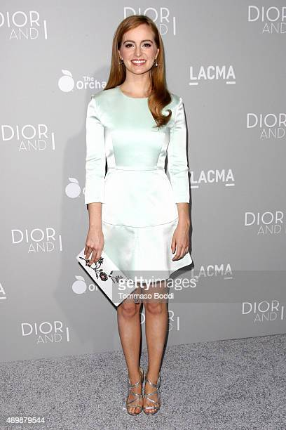 Actress Ahna O'Reilly attends the Orchard's 'DIOR I' Los Angeles premiere held at LACMA on April 15 2015 in Los Angeles California