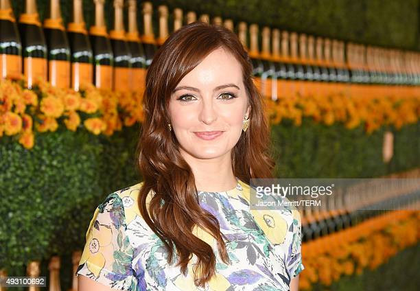 Actress Ahna O'Reilly attends the SixthAnnual Veuve Clicquot Polo Classic at Will Rogers State Historic Park on October 17 2015 in Pacific Palisades...