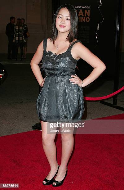 Actress Ahney Her attends the Los Angeles Premiere of Gran Torino at the Steven J Ross Theater on December 9 2008 in Los Angeles California