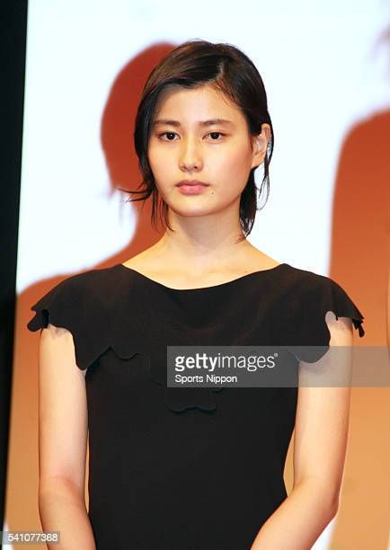 Actress Ai Hashimoto attends the Fuji TV program press conference on July 3 2014 in Tokyo Japan