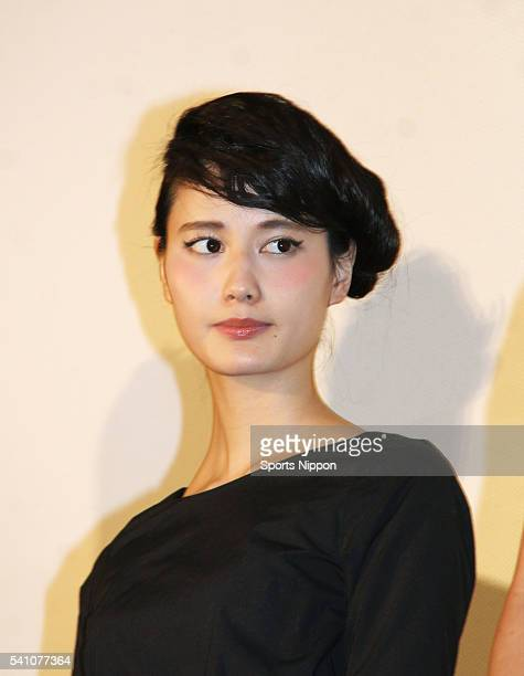 Actress Ai Hashimoto attends the preview screening of 'The Inerasable' on January 14 2016 in Tokyo Japan