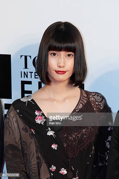 Actress Ai Hashimoto attends the Tokyo International Film Festival 2016 Opening Ceremony at Roppongi Hills on October 25 2016 in Tokyo Japan
