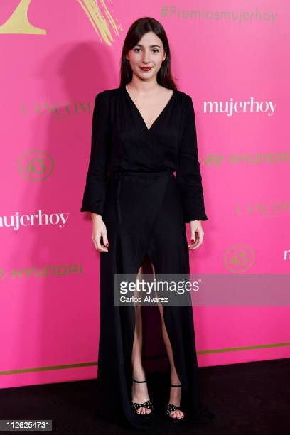 Actress Aia Kruse attends 'MujerHoy' awards 2019 at Casino de Madrid on January 30 2019 in Madrid Spain