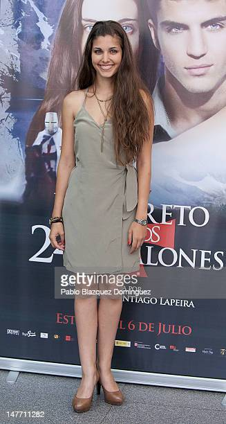 Actress Aida Flix attends 'El Secreto de los 24 Escalones' photocall at Palafox Cinema on July 2 2012 in Madrid Spain