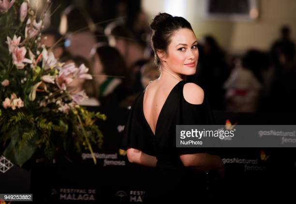 Actress Aida Folch attends 'Casi 40' premiere during the 21th Malaga Film Festival at the Cervantes Theater on April 20 2018 in Malaga Spain