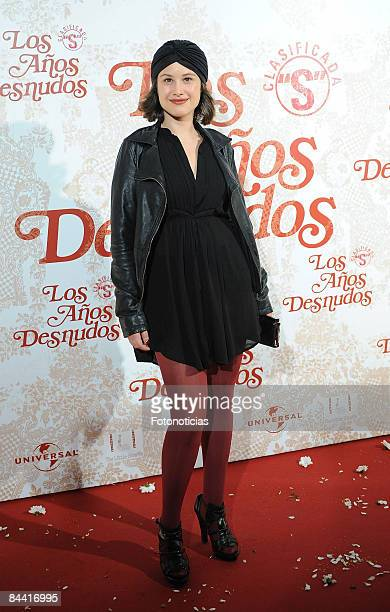 Actress Aida Folch attends the 'Los Aos Desnudos' premiere at the Capitol Cinema on October 23 2008 in Madrid Spain