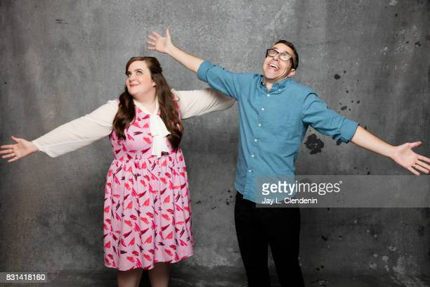 Actress Aidy Bryant and actor Eric Knobel are photographed in the LA Times photo studio at ComicCon 2017 in San Diego CA on July 22 2017 CREDIT MUST...