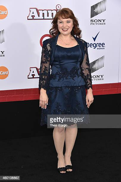 "Actress Aileen Quinn attends the ""Annie"" World Premiere at Ziegfeld Theater on December 7, 2014 in New York City."