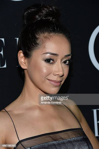 Actress Aimee Garcia arrives at ELLE's 5th Annual Women In Music concert celebration presented by CUSP By Neiman Marcus at Avalon on April 22 2014 in...
