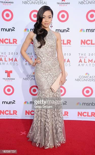Actress Aimee Garcia arrives at the 2013 NCLA ALMA Awards at Pasadena Civic Auditorium on September 27 2013 in Pasadena California