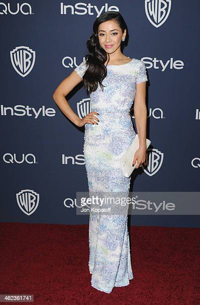 Actress Aimee Garcia arrives at the 2014 InStyle And Warner Bros 71st Annual Golden Globe Awards PostParty on January 12 2014 in Beverly Hills...