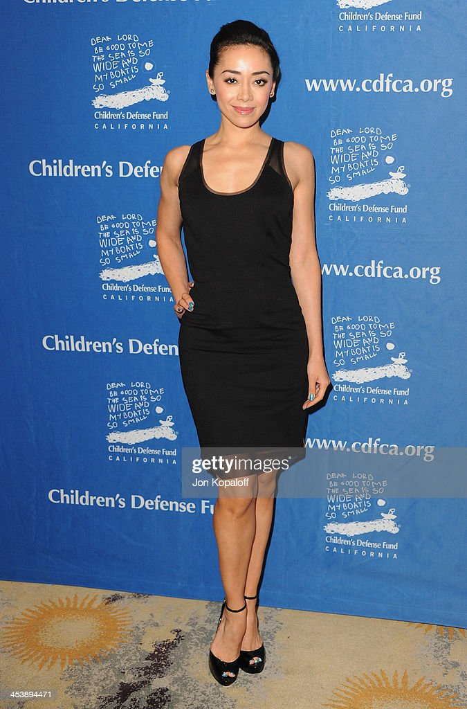 Actress Aimee Garcia arrives at the Children's Defense Fund 23rd Annual Beat The Odds Awards at Beverly Hills Hotel on December 5, 2013 in Beverly Hills, California.