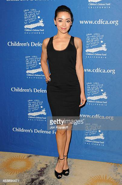 Actress Aimee Garcia arrives at the Children's Defense Fund 23rd Annual Beat The Odds Awards at Beverly Hills Hotel on December 5 2013 in Beverly...