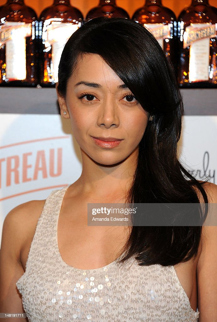 Actress Aimee Garcia arrives at the Dita Von Teese and Cointreau Launch Cointreau Poolside Soirees event at the Beverly Hills Hotel on July 11, 2012 in Beverly Hills, California.