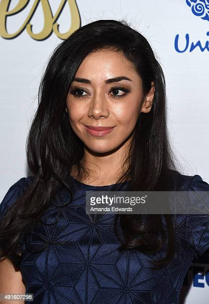 Actress Aimee Garcia arrives at the Latina 'Hot List' Party hosted by Latina Media Ventures at The London West Hollywood on October 6 2015 in West...