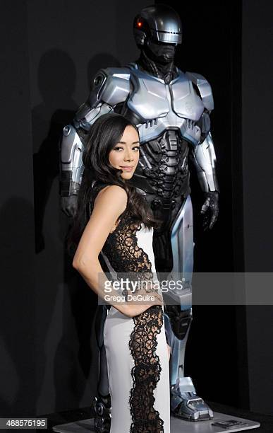 Actress Aimee Garcia arrives at the Los Angeles premiere of Robocop at TCL Chinese Theatre on February 10 2014 in Hollywood California