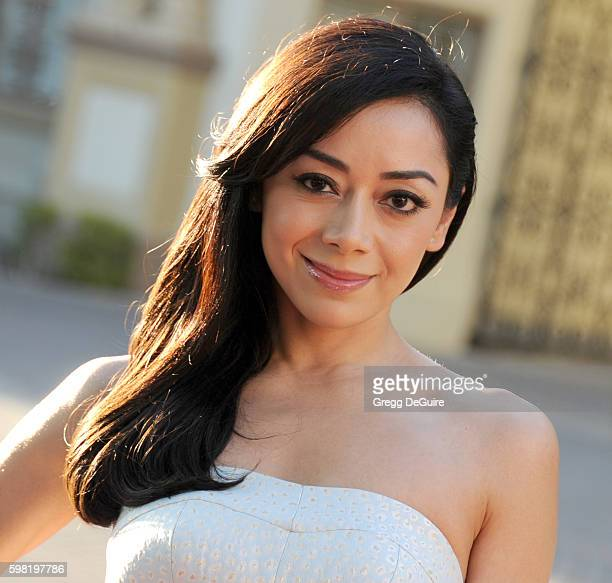 Actress Aimee Garcia arrives at the premiere of Lifetime's 'Sister Cities' at Paramount Theatre on August 31 2016 in Hollywood California