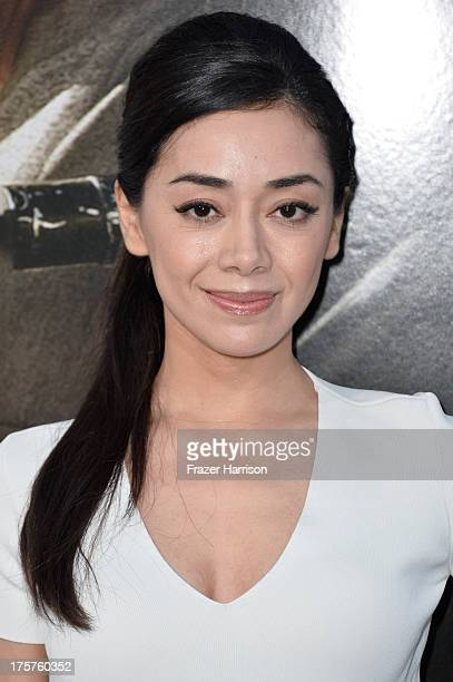 Actress Aimee Garcia arrives at the premiere of TriStar Pictures' Elysium at Regency Village Theatre on August 7 2013 in Westwood California