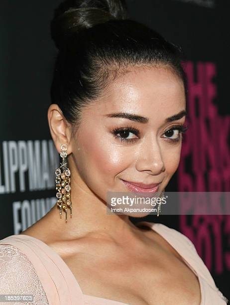 Actress Aimee Garcia attends FIJI Water at the 9th Annual Pink Party Benefiting The CedarsSinai Women's Cancer Program at HANGAR8 on October 19 2013...